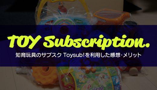 知育玩具のサブスク「トイサブ!」を使ってみた感想【1歳児】