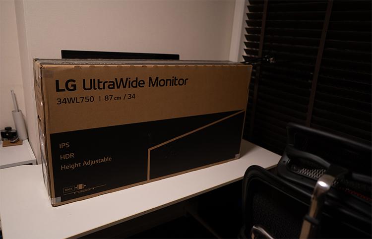 34WL750-Bの箱
